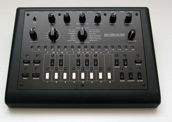 A x0xb0x is a monophonic analog synthesizer and a TB303 clone. It was developed by Adafruit Industries in 2005 as an open source project that is open to modification and commercialization to everyone.